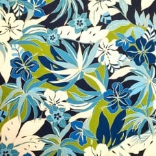 Hibiscus Floral Glow Luxe Home Decor Fabric by Tommy Bahama Fabric Traders