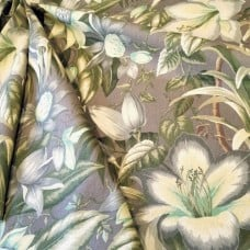 Botanical Glow in Taupe and Lemon Luxe Home Decor Fabric by Tommy Bahama
