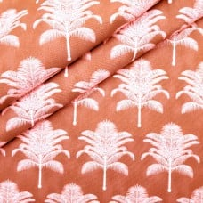 Palm Life Outdoor Fabric by Tommy Bahama in Coral