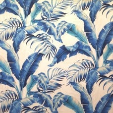 Palmiers in Blue Indoor Outdoor Fabric by Tommy Bahama