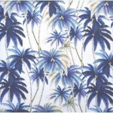 REMNANT - Palms Outdoor Fabric by Tommy Bahama in Blue