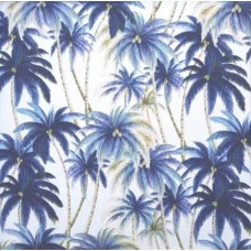 Palms Outdoor Fabric by Tommy Bahama in Blue