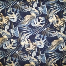 Falling  Fronds Luxe Home Decor Fabric by Tommy Bahama in Navy