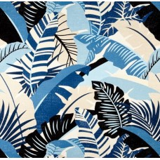 Playa Eterna Palma Linda Luxe Home Decor Fabric in Blue by Tommy Bahama