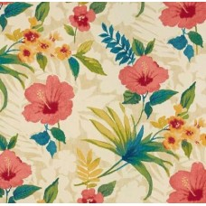 Hibiscus Pool Party Indoor Outdoor Fabric by Tommy Bahama in Capri Fabric Traders