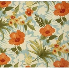 Hibiscus Pool Party Outdoor Fabric by Tommy Bahama in Seaspray Fabric Traders