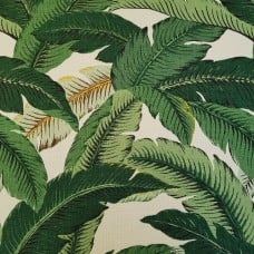 REMNANT - Swaying Palms Luxe Home Decor Fabric Linen Blend by Tommy Bahama (Piece: 42cm x 67cm)