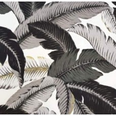 Swaying Palms Outdoor Fabric in Black  and White by Tommy Bahama Fabric Traders