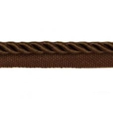 Twisted Cord Trim with Piping Lip Brown 9mm