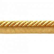 OFF CUT - Twisted Cord Trim with Piping Lip Gold Metallic 6mm per 90cm Fabric Traders
