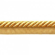 Twisted Cord Trim with Piping Lip Gold Metallic 6mm