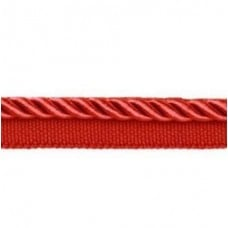 Twisted Cord Trim with Piping Lip Red 9mm