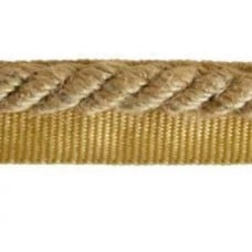 Twisted Cord Trim with Piping Lip Rustic Natural 9mm per 90cm