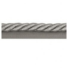 Twisted Cord Trim with Piping Lip Silver Metallic 9mm per 90cm