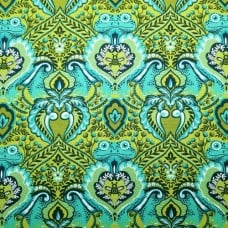 Frog Prince Green Cotton Fabric by Tula Pink