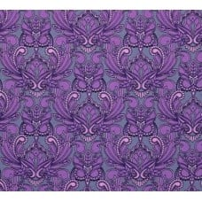 Purple Mini Owls Cotton Fabric by Tula Pink
