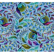 Remnant - Slow and Steady Pit Crew in Blue Cotton Fabric by Tula Pink