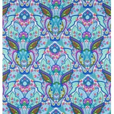 The Hare in Blue Cotton Fabric by Tula Pink