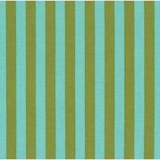 Tent Stripe in Green Cotton Fabric by Tula Pink