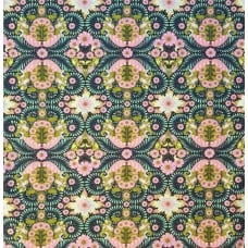 The Tortoise Strawberry Cotton Fabric in Kiwi by Tula Pink