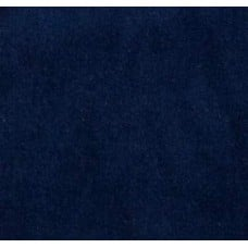 REMNANT - Velveteen Velvet Cotton Fabric in Deep Sea Blue