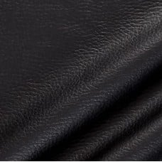 REMNANT - Vinyl Embossed Budget Fabric in Black 90cm