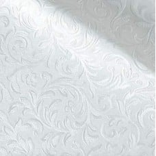 Vinyl Fabric White Leaf