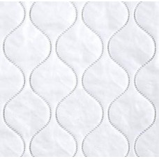 Vinyl Fabric in White Quilted Finish