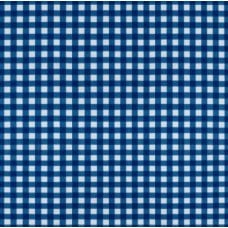 Vinyl Tablecloth Fabric in Blue Gingham