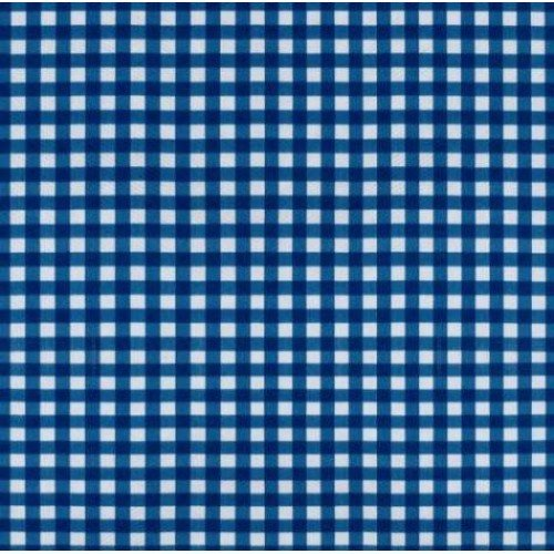 Vinyl Tablecloth Fabric In Blue Gingham Fabric Traders