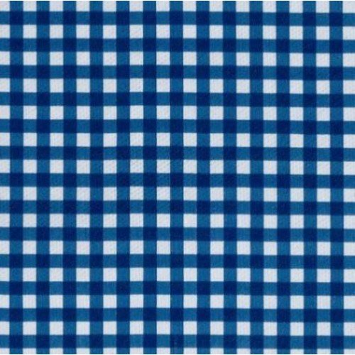 ... Vinyl Tablecloth Fabric In Blue Gingham Fabric Traders
