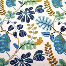 A New Leaf In Blue Indoor Outdoor Fabric Fabric Traders