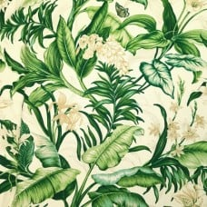 Wailea Coast Home Decor Cotton Fabric in Green by Waverly