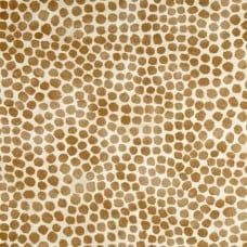 Puff Dotty Tan Cotton Home Decor Fabric by Waverly