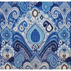 Boho Indoor Outdoor Fabric in Blue