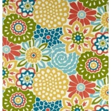 Floral Buttons Colourful Indoor Outdoor Fabric