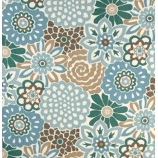 Floral Buttons Indoor Outdoor Fabric