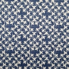 Courtyard Design Home Decor Fabrics in Blue and Cream