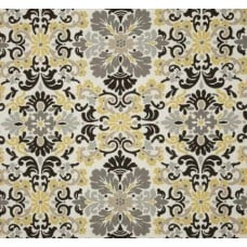 Damask in Lemondrop Home Decor Fabric by Waverly