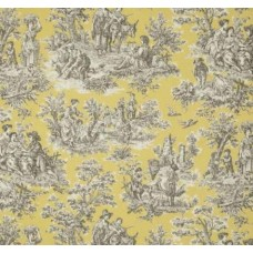 Rustic Life Toile Cotton Home Decor Fabric in Lemondrop