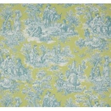 Rustic Life Toile Cotton Home Decor Fabric in Seaspray Fabric Traders