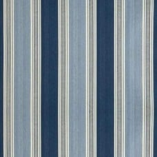 REMNANT - Stripe Home Decor Fabric in Blue Fabric Traders