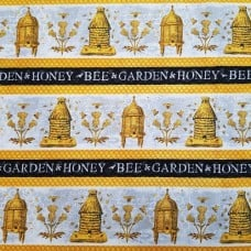 A Bee's Life Hives Frieze Cotton Fabric by Wilmington