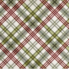 Flannel Plaid in Green Cotton Fabric Fabric Traders