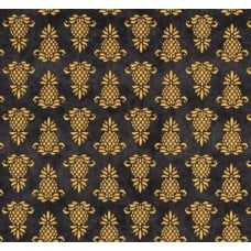 Pineapple Stamps in Black Cotton Fabric Fabric Traders