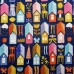 Little Town Houses Cotton Fabric   Fabric Traders