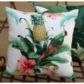 Cushion Cover - Beach Bounty Lush Green Indoor Outdoor Fabric