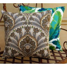 Cushion Cover - Crescent Beach In Sand Indoor Outdoor Fabric