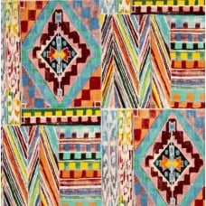 Folk Lorico Ranchera Serape Tea Brite Cotton Fabric by Alexander Henry