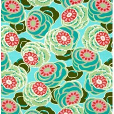 Dream Weaver Clouded Floral Seagl Cotton Fabric by Amy Butler